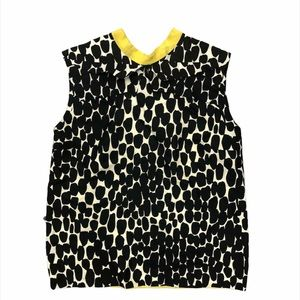 Gucci Monochrome Silk Top Polka Dot Black White 38